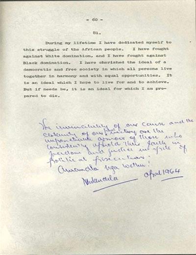 Letter From Mandela